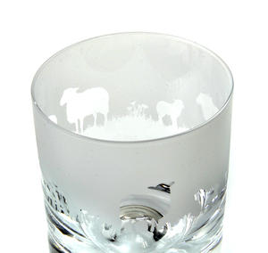 Sheep - 30cl Animo Glass Whiskey Tumbler by The Milford Collection Thumbnail 2