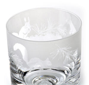 Squirrel - 30cl Animo Glass Whiskey Tumbler by The Milford Collection Thumbnail 2