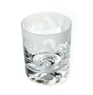 Squirrel - 30cl Animo Glass Whiskey Tumbler by The Milford Collection Thumbnail 3