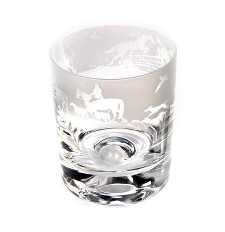 Hunting - 30cl Animo Glass Whiskey Tumbler by The Milford Collection