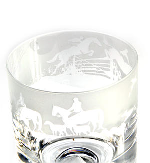 Hunting - 30cl Animo Glass Whiskey Tumbler by The Milford Collection Thumbnail 2