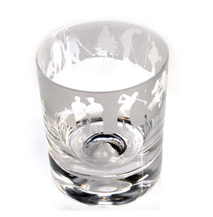 Golf - 30cl Animo Glass Whiskey Tumbler by The Milford Collection Thumbnail 1