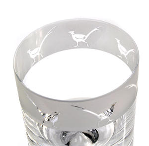 Pheasant - 30cl Animo Glass Whiskey Tumbler by The Milford Collection Thumbnail 2