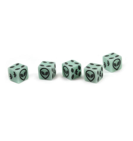 Alien Dice - 5 Poker Dice Set