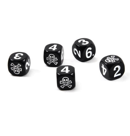 Skull 'n' Crossbones Pirate Dice - 5 Poker Dice Set