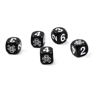 Skull 'n' Crossbones Pirate Dice - 5 Poker Dice Set Thumbnail 1