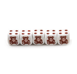 Teddy Bear Dice - 5 Poker Dice Set Thumbnail 3