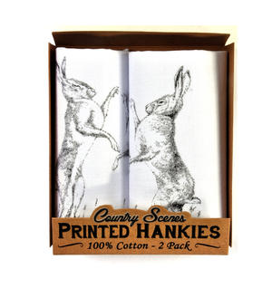 Hare - 2 Pack - Country Sports Scenes Printed Handkerchiefs