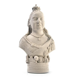 Queen Victoria Statuette - Famous Faces Collection Plaster Bust
