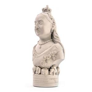 Queen Victoria Statuette - Famous Faces Collection Plaster Bust Thumbnail 3