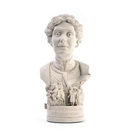 Emmeline Pankhurst Statuette - Famous Faces Collection Plaster Bust