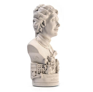 Emmeline Pankhurst Statuette - Famous Faces Collection Plaster Bust Thumbnail 2