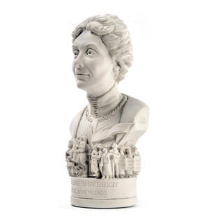 Emmeline Pankhurst Statuette - Famous Faces Collection Plaster Bust Thumbnail 3