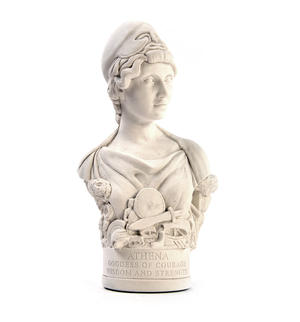 Athena Statuette - Famous Faces Collection Plaster Bust Thumbnail 1