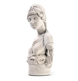 Athena Statuette - Famous Faces Collection Plaster Bust Thumbnail 2