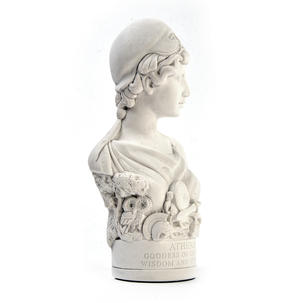 Athena Statuette - Famous Faces Collection Plaster Bust Thumbnail 3