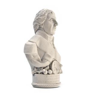 Horatio Nelson Statuette - Famous Faces Collection Plaster Bust Thumbnail 2