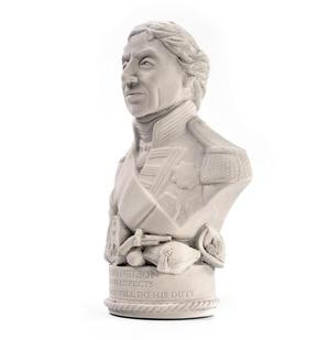 Horatio Nelson Statuette - Famous Faces Collection Plaster Bust Thumbnail 3