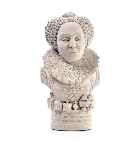 Queen Elizabeth l Statuette - Famous Faces Collection Plaster Bust