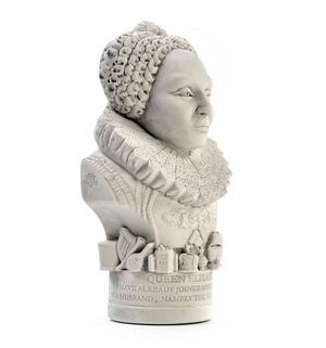 Queen Elizabeth l Statuette - Famous Faces Collection Plaster Bust Thumbnail 2
