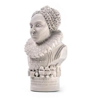 Queen Elizabeth l Statuette - Famous Faces Collection Plaster Bust Thumbnail 3
