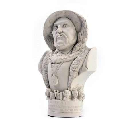 King Henry Vlll Statuette - Famous Faces Collection Plaster Bust
