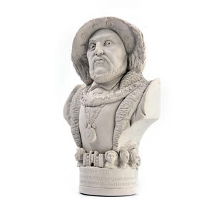 King Henry Vlll Statuette - Famous Faces Collection Plaster Bust Thumbnail 1