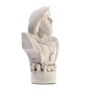King Henry Vlll Statuette - Famous Faces Collection Plaster Bust Thumbnail 3