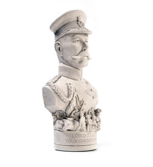 Lord Kitchener Statuette - Famous Faces Collection Plaster Bust