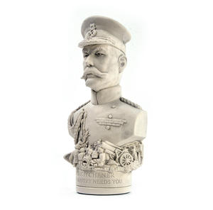 Lord Kitchener Statuette - Famous Faces Collection Plaster Bust Thumbnail 2