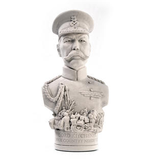 Lord Kitchener Statuette - Famous Faces Collection Plaster Bust Thumbnail 3