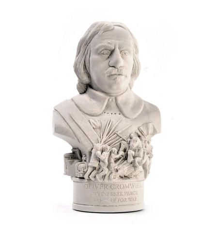 Oliver Cromwell Statuette - Famous Faces Collection Plaster Bust