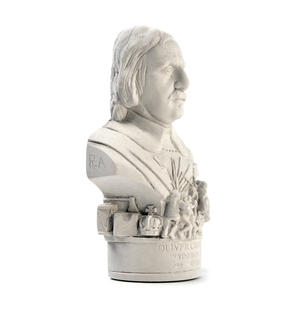 Oliver Cromwell Statuette - Famous Faces Collection Plaster Bust Thumbnail 2