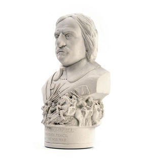 Oliver Cromwell Statuette - Famous Faces Collection Plaster Bust Thumbnail 3