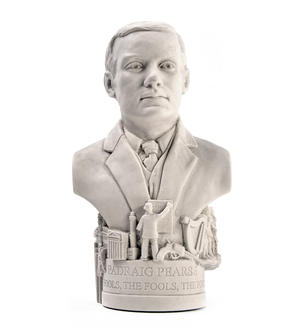 Padraig Pearse Statuette - Famous Faces Collection Plaster Bust Thumbnail 1