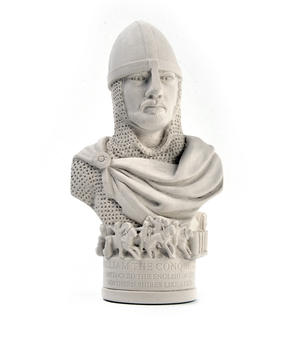 William the Conqueror Statuette - Famous Faces Collection Plaster Bust