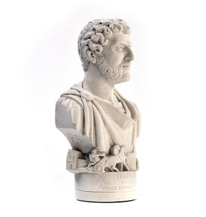 Hadrian Statuette - Famous Faces Collection Plaster Bust Thumbnail 1