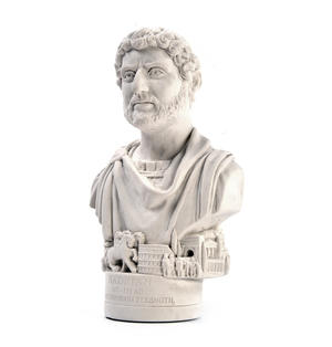 Hadrian Statuette - Famous Faces Collection Plaster Bust Thumbnail 2