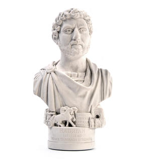 Hadrian Statuette - Famous Faces Collection Plaster Bust Thumbnail 3