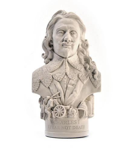 King Charles l Statuette - Famous Faces Collection Plaster Bust