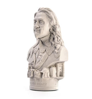 King Charles l Statuette - Famous Faces Collection Plaster Bust Thumbnail 2