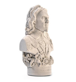 King Charles l Statuette - Famous Faces Collection Plaster Bust Thumbnail 3