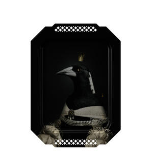 La Pie / Magpie - Galerie De Portraits - Surreal Wall Tray Art Masterwork by iBride