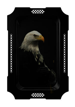L'aigle / Eagle - Galerie De Portraits - Surreal Wall Tray Art Masterwork by iBride Thumbnail 1