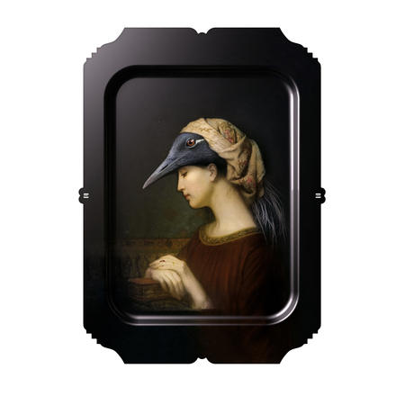 Alma - Galerie De Portraits - Surreal Wall Tray Art Masterwork by iBride