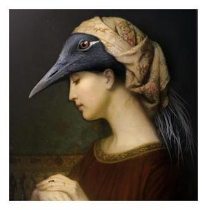 Alma - Galerie De Portraits - Surreal Wall Tray Art Masterwork by iBride Thumbnail 2