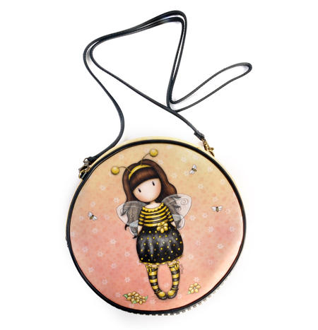 Bee-Loved (Just Bee-Cause) - Round Shoulder Bag by Gorjuss