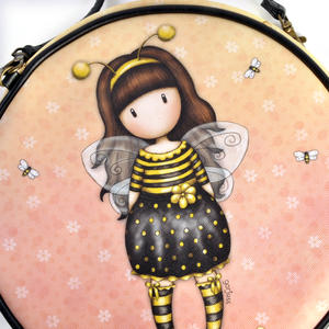 Bee-Loved (Just Bee-Cause) - Round Shoulder Bag by Gorjuss Thumbnail 2