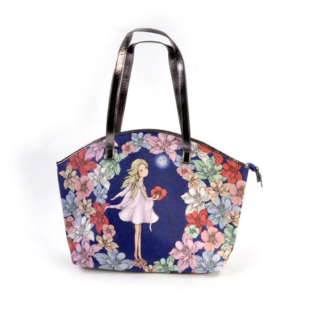 Midnight Garden - Curved Shopper Bag By Mirabelle