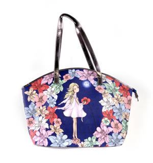 Midnight Garden - Curved Shopper Bag By Mirabelle Thumbnail 4